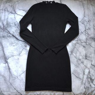 Black long sleeve bodycon dress size 6