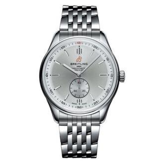🚚 Breitling Premier Automatic 40 Steel Silver Watch A37340351G1A1