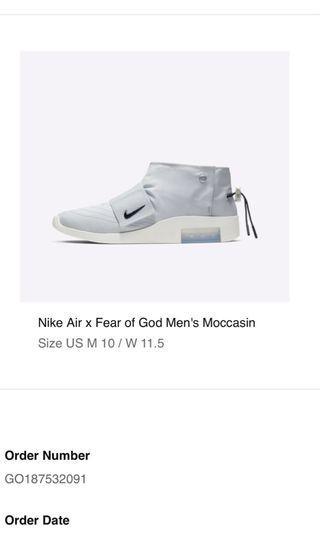 🚚 Nike x FOG Moccasin