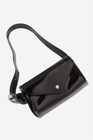 Black Transparent Belt Bag