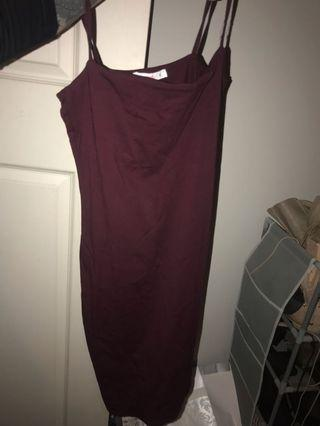 Supre maroon dress