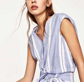 Zara inspired navy stripes Top