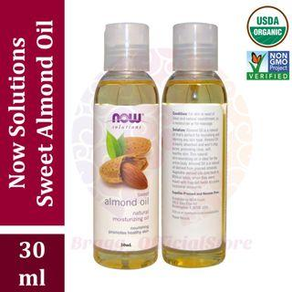 Now Solutions Almond Oil 30 mL - Pure & Organic – Cold Pressed – Carrier Oil – Share in Jar