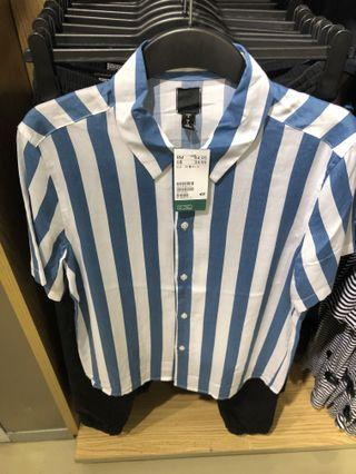 H&M Stripes Short Shirts