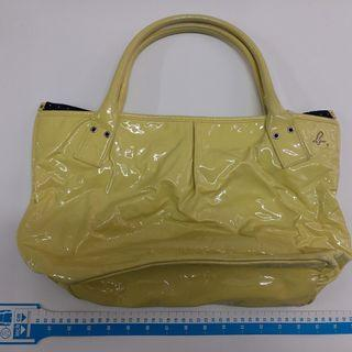 AGNES.b yellow faux leather handbag