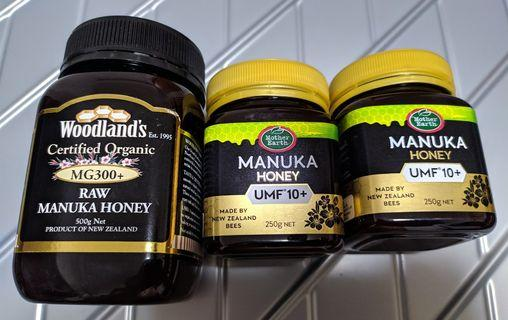 3 Bottles of Organic Manuka Honey: MG300+ & UMF10+