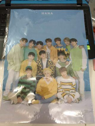 🚚 Seventeen Hana/Haru Japan Tour A3 Plastic Poster