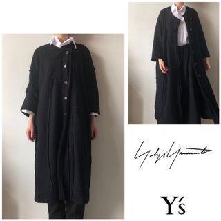 降💥Y's yohji yamamoto 毛料 雙面穿 八分袖 外套 大衣 山本耀司