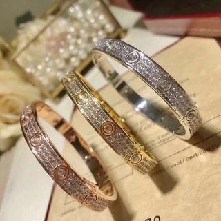 卡地亞同款 Cartier style bracelet 滿天星 玫瑰金 手鐲