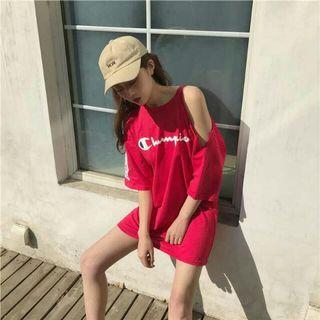Red Off Shoulder Champion Dress/Top