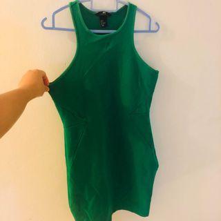 H&M green bodycon Dress