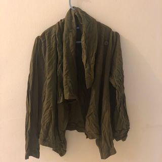 Mossimo army green cardigan