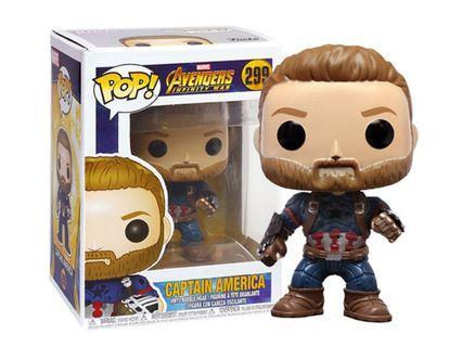 Funko POP! Marvel Avengers: Infinity War #299 Captain America (Action Pose) - Exclusive