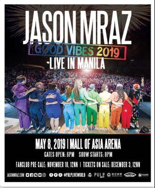 1 Jason Mraz Good Vibes 2019 Gen Ad Ticket