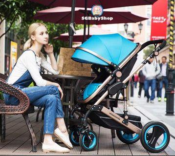 Brand-new European style of stroller/pram/Unlimited adjustable/offer/2019