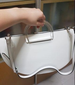 Charles & Keith white handbag(reserved)