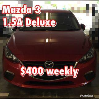 Mazda 3 1.5A Sunroof for Rent