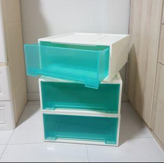 CITYLIFE 24L single tier drawer in blue turquoise