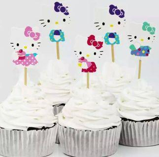 Hello Kitty Cupcake Toppers (Set of 24 pcs)