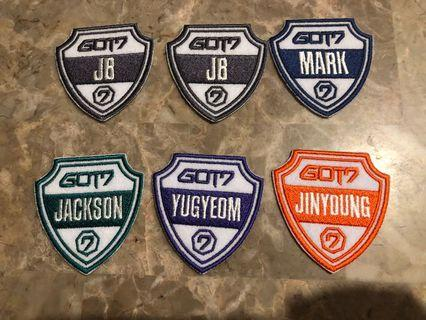 GOT7 official limited and rare adidas patches