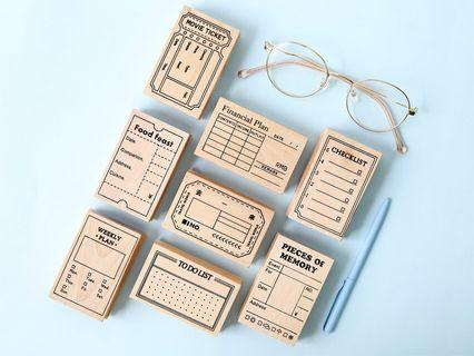 The Planning Room Wooden Block Stamp