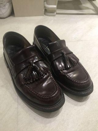 Loake tassel brighton oxblood loafer made in england vintage gentlemen leather