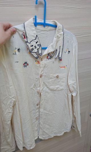 貓咪造型襯衫