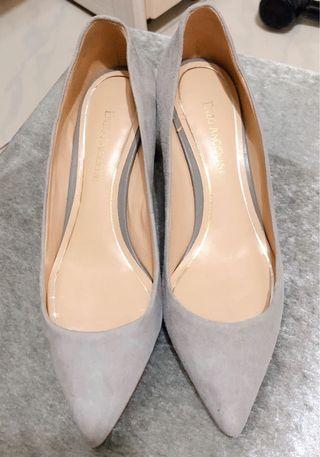 🚚 百貨專櫃ENZO ANGIOLINI 麂皮象灰粗跟鞋 歐碼39