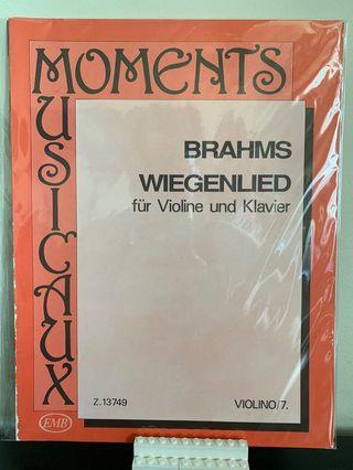 Violin Music Scores Brahms Wiegenlied
