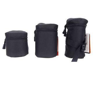XS Size - XXL Size Lens Pouch for Waist Belt  (Wear-resistant & Shockproof Pouch)