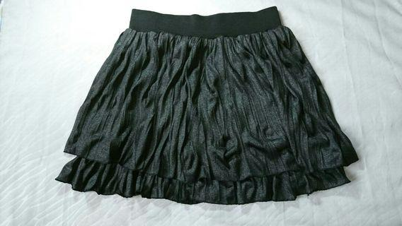 鬆緊帶黑色裙子