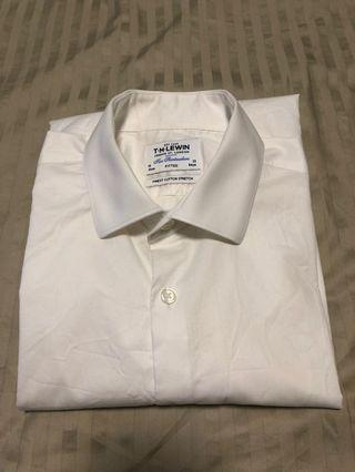 🚚 TM Lewin White Fitted stretch 16/33