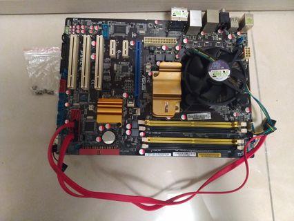 華碩主機板 P5QL-E <GREEN>(含CPU+金士頓2G記憶體+風扇+線+螺絲)