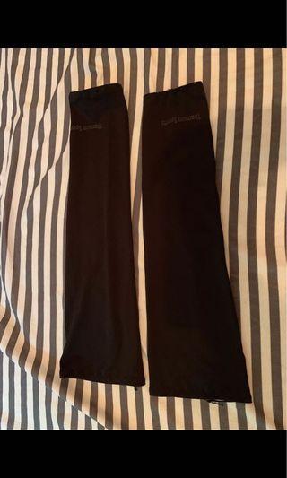 黑色行山防曬手袖、35cm長、80%new、夏天到啦,要防曬呀