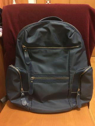 🚚 韓系海軍藍後背包 Korean Style navy blue backpack
