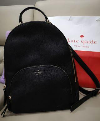 Brand NEW! Authentic Kate Spade Large Backpack- Leather Black