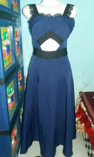 Dress Mewah Navy