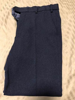 🚚 Mark & Spencer navy Blue business pants trousers