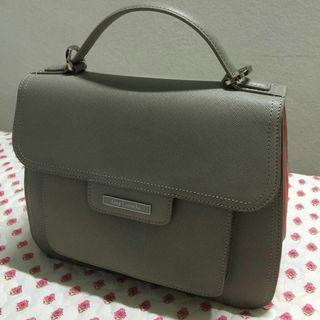 Guy Laroche Handbag - Grey/Pink (PRICE REDUCED!)