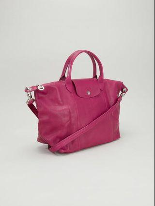 Longchamp Le Pliage Cuir in PINK! (PRICE REDUCED!!)