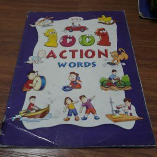 Action words book educational for children