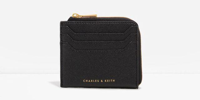 Charles and Keith Casual Zip Pouch in Black