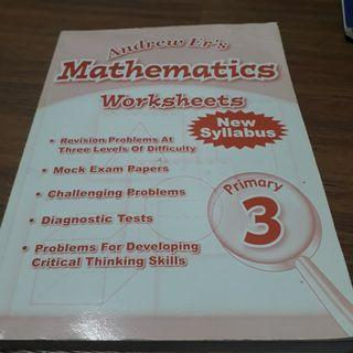 Primary 3 math worksheets