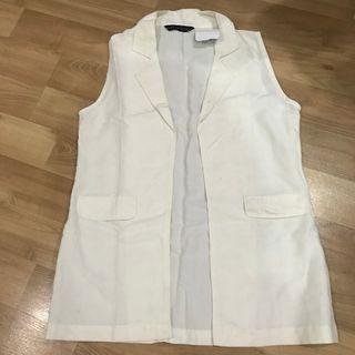 Local Brand Bambina Closet Rompi Putih / White Vest Women