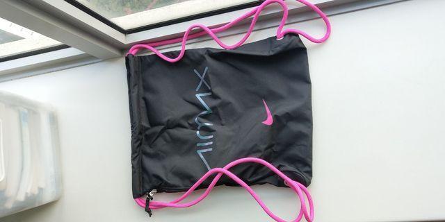Nike neon pink drawstring bag
