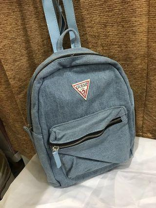Guess authentic denim backpack