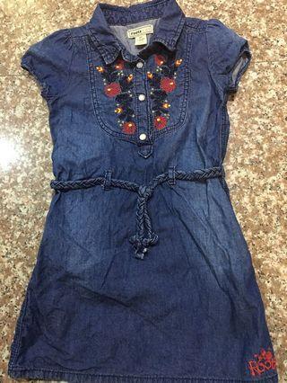 Roots女童4T牛仔洋裝
