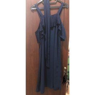 Dark Navy Midi Dress