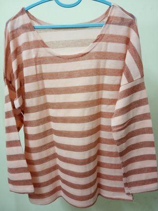 Glittery striped blouse