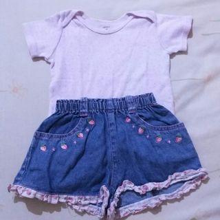 🌸 Matching Set Short Pants + Kaos 🌸
